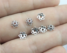 WYSIWYG 120pcs 6*6mm Antique Silver Plated receptacle Flower Torus DIY  Spaced apart Jewelry Accessories