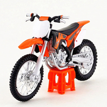 1/18 Maisto Racing Motorcycle Toy, Diecast Metal KTM 450 SX-F Motor Cycle, Simulation Model Car, Kids Toys, Brinquedos Boys Gift(China)