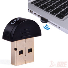 Free shipping Mini USB Bluetooth V4.0 Dongle Dual Mode Wireless CSR V 4.0 Receiver Adapter + Voice Data For PC Printer Phone