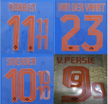 2014 Netherlands Holland away SNEIJDER VAN DER VAART V.PERSIE ROBBEN name numbering nameset soccer patch soccer badge(China)