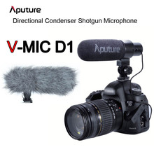 Buy Aputure V-mic Video Camera Microphone Professional Directional Condenser Shotgun Microphone Canon Nikon Sony DSLR Camcorder for $69.00 in AliExpress store