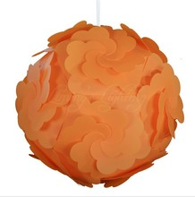 Orange 300MM Petal Flower Modern Contemporary DIY Elements IQ Jigsaw Puzzle Lamp Shade Ceiling Pendant Lamp Ball Light Lighting