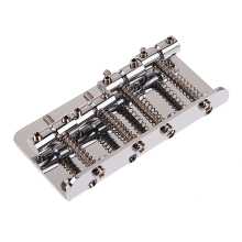 Vintage Style Guitar Bridge 4-String With 4 Screw Guitar Practical Part For Fender Jazz Bass Guitar
