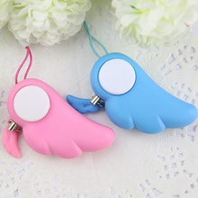Cute Angel Wing Personal Safety Anti Rape Attack Alarm Panic Protection Tool hot Safe Device 90dB Electronic Alarm(China)