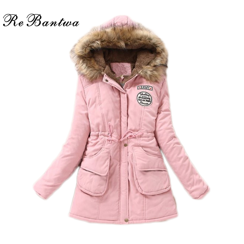 Rebantwa Winter Jacket Women Coats Medium-Long Thicker Warm Jackets Ladies Letter Printed Parka &amp; Down Plus Size S-3XL 11 ColorsОдежда и ак�е��уары<br><br><br>Aliexpress