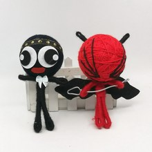 Bulk 15cm x 12pcs Red/Black Voodoo Doll For Mobile Bag Key Chain Pendant/Kids Toy #A02