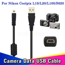 Hot Sale 59 Inches 1.5M Usb Cable Camera To Pc Data Charge Transfer For Nikon For Coolpix L19 L20 L100 S620 UC-E6 For FinePix