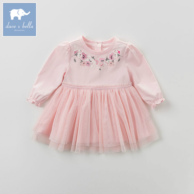 DB5710 dave bella baby Princess girl Wedding Birthday dress  Flower Children Clothes Infant Designs GIRLS Vestido<br>