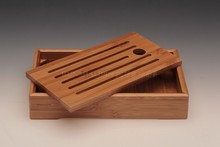 Bamboo tea tray solid bamboo tea sets kung fu pu er  tea tools for cup and teapot crafts tray 21.5*12*4cm handmade tea tools