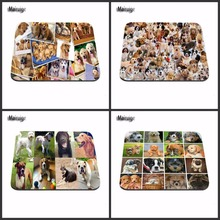 Top Selling Best Sales Customized Mouse Pad Animals dog Keyboards Cool dog Computer Notebook Rectangle Rubber Mouse Mat Pad(China)