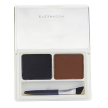 Amazing Double Color Kit Eyebrow Shading Powder Eye Brow Palette w/ Brush Cosmetic