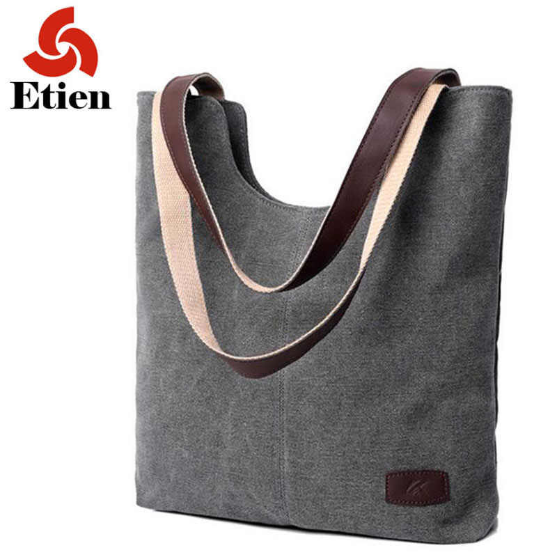 Women's handbags shoulder handbag high quality canvas shoulder bag for women lady bags handbags famous brands big bag ladies(China)