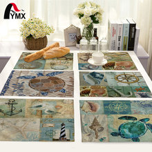 Sea Style Turtle Pattern Table Mat Octopus Lobster Table Napkin Polyester Cotton Placemat Kitchen Decoration Dining Accessories(China)