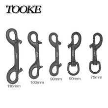 Scuba Diving 75mm 90mm 100mm 116mm 316 Black Stainless Steel Hook Double Ended Bolt Snap Buckle Metal Clip(China)