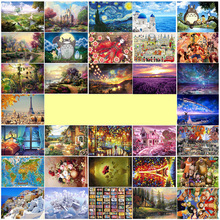 New Arrival 1000 pieces wooden landscape puzzle with  Large picture Castle jigsaw adult Kids educational Toy Christmas Gift J003