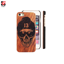 Skull Custom U&I Real Wood Cell Phone Case Wooden Laser Engrave Cover Capa for iPhone 8 8+ 5 5S 6 6S 6PLUS 7 7PLUS Drop Shipping