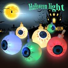 12m25m led light string lamps decorative light halloween ghost eye shape lights for indoor outdoor decor without battery
