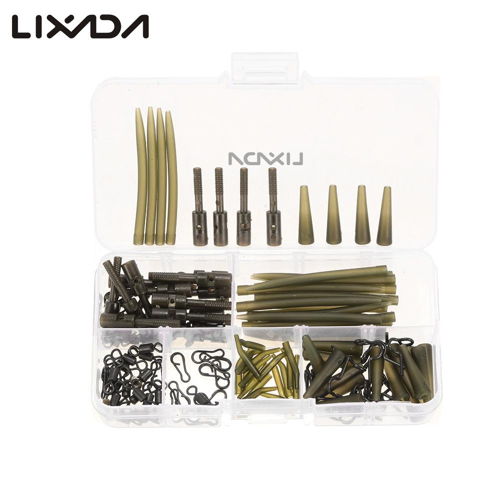 USSTOCK Set Assorted Carp Fishing Accessories Tackle Box Hair Rig Set Lead Clip