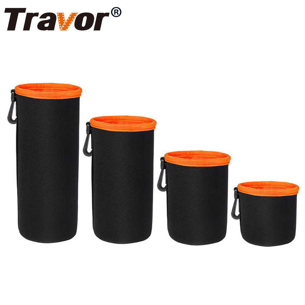 Travor Camera Lens Bag Neoprene Soft Protector Camera Lens Bag Case Pouch DSLR Nikon Canon Sony Olympus Panasonic Lens