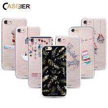 CASEIER Christmas Series Soft Cases for iPhone 7, 7 Plus for iPhone 6 6S Plus 5 5S SE Silicone Cases Patterned Cover Capa Fundas(China)