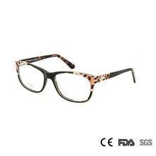 Sorbern Sexy Women Leopard Eyeglasses Frames Optical Acetate Square Myopia Eye Glasses Clear Lenses Nerd Oculos De Grau