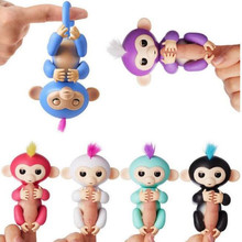 6 color Fingerlings Monkey mini Pet shop toys joints are moving Toy Monkey Pet Kids Christmas gifts Not electric(China)