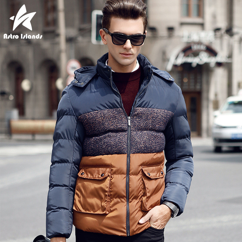 2017 Fashion Hooded Thick Parka Men Winter Jacket Mens Slim Warm Cotton Coat Contrast Color Casual Jackets Brand Clothing LW161Одежда и ак�е��уары<br><br><br>Aliexpress