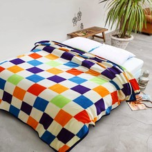 Baby throw blankets on the bed covers blankets fleece children blanekt Black white red plaid blankets micro plush blankets rugs