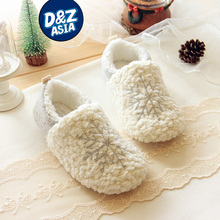 Christmas Snowflake winter high-end series fluffy indoor warm shoes fresh snow cotton slippers home