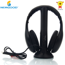 Wireless Headphone Headset Earphone 5 in 1 Black for Gaming Headphone MP3/MP4 FM Radio Wireless Headphone PC TV CD(China)