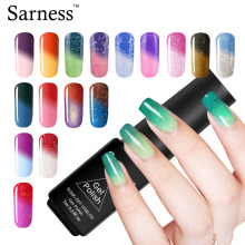 Sarness UV Temperature Change Nail Gel Polish Need Base Top Coat 29 Color Soak Off Changing Chameleon Nail Gel Polish