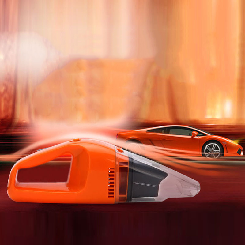 Vehicle Vacuum Cleaner Power Strong Suction Wet Car Portable Car Cleaner Electrical Appliances Car Styling Blue Orange