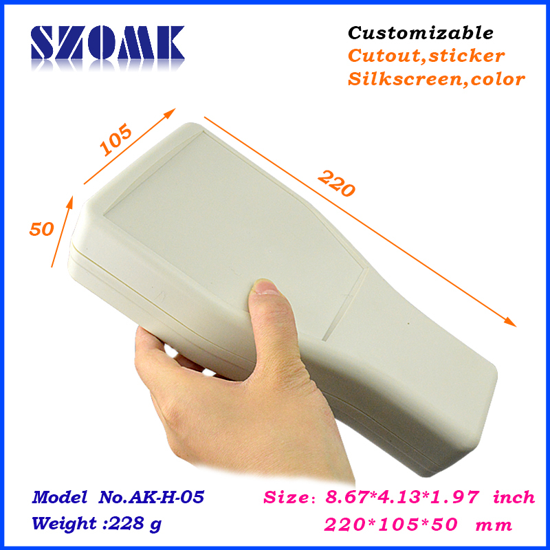 10 pieces a lot, handheld box 220*105*55mm8.67*4.13*2.17inch plastic handheld enclosure for electronics plastic case<br><br>Aliexpress