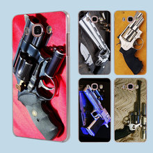 Smith and Wesson 44 Magnum guns transparent clear hard case cover for Samsung Galaxy J1 J2 J3 J5 J7Prime J7 J510 J710 2016(China)