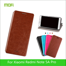 For Xiaomi Redmi Note 5A Prime Case Mofi Book Flip Style Mobile Phone Cases For Redmi Note 5A Prime PU Leather Stand Cover