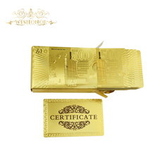 Good Euro 500 Style 24 Carat Gold Foil Playing Cards PVC Waterproof Plastic Playing Card Club Game Playing(China)