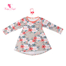 Kaiya Angel Baby Dress Toddler Clothing Princess Girl Dresses Long Sleeve Floral Print Kids Dresses For Girls Girls Clothes