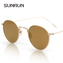 SUNRUN Men Luxury Brand Sunglasses Designers Women's Sunglasses Fashion Retro Round Mirror Sunglasses Oculo de sol feminino 8229(China)