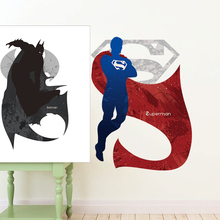 Batman vs. Superman Super Hero newest Movie home decal wall sticker for kids rooms decor boys bedroom art child gifts wallpaper