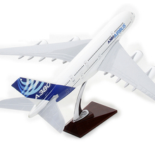 New Biggest Size 45cm Long Airbus A380l Aircraft Best Gift A380 Plane Model Aircraft Airplane Model For Baby Toys(China)