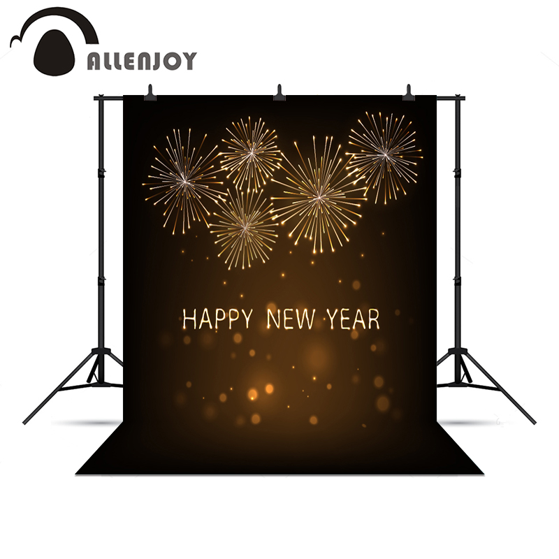 Allenjoy background New Year fireworks gold glitter shiny firecrackers photographic background backgrounds for photography<br><br>Aliexpress