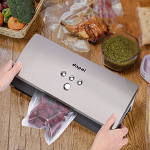 Dapai Food Vacuum Sealer Machine Fresh Storage System Dry Moist Mini Food Sealer with 10pcs Vacuum Sealer Bags DS-100(China)