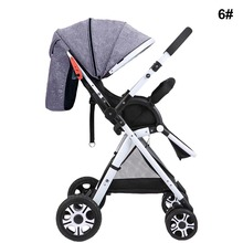Baby Stroller 3 In 1 High Landscape Baby Trolley Ultra-light Seat Folding Two-way Caster Four-wheel Shock Baby Trolley LMY1373(China)