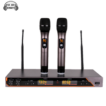 Professional UHF Wireless Microphone System Dual Handheld Mic 2 Channel Display Receiver Mike For UR6S Karaoke KTV Outdoor Party