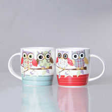 Creative Owl 350ml Bone porcelain cup Ceramic Mug Coffee Milk Breakfast Cup Coffee Mug Gifts Cup 1pcs