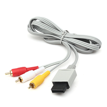 Audio Video AV Composite 3RCA Cable Cord Connector for Nintendo Wii Game Console(China)