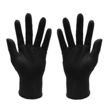 Free Shipping new 50pcs/Lot Black Nitrile Gloves Disposable Nitrile Oil and Acis Wholesale Industrializationd Latex Glove(China)
