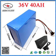 Free Tax DIY 1000W 36V 40Ah 10S8P Lithium Battery Powerful with PVC Case with BMS Charger For Motorcycle Golf Cart Scooter Motor(China)