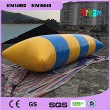 Free Shipping 8*3m Inflatable Water Blob Blob Jump Water Toys Water Blob Jumping Bag Inflatable Aqua Trampoline(China)