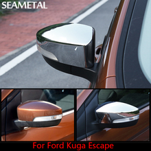 For Ford Kuga Escape 2013 2014 2015 2016  Car Rearview Mirror Cover Stickers External Decoration Accessories Car-styling